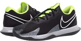 Nike NikeCourt Air Zoom Vapor Cage 4 (Black/White/Volt/Dark Smoke Grey) Men's Tennis Shoes