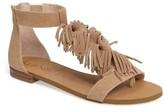 Sole Society Women's Koa Fringed T-Strap Sandal