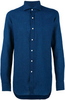 Fay woven pattern shirt - men - Cotton/Linen/Flax - 38
