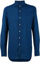 Fay woven pattern shirt - men - Cotton/Linen/Flax - 41