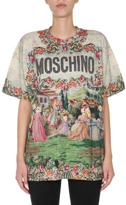 Moschino Graphic Print Round Neck T-Shirt