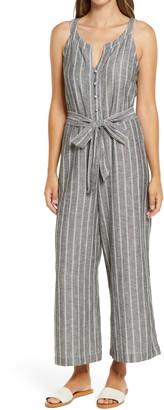 Caslon Stripe Belted Jumpsuit