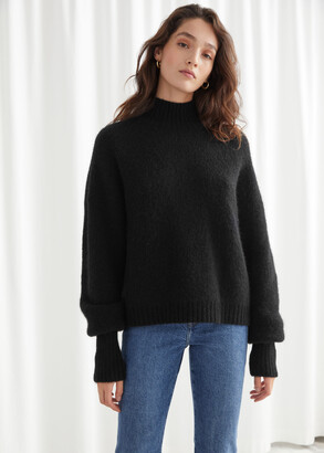 And other stories Alpaca Blend Turtleneck Knit Sweater