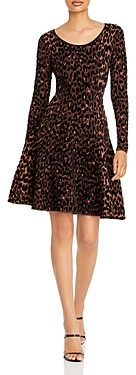 Milly Printed Fit and Flare Dress