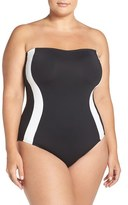 LaBlanca Plus Size Women's La Blanca Block My Way One-Piece Swimsuit