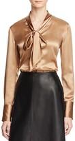 Lafayette 148 New York Oakley Silk Tie Neck Blouse - 100% Bloomingdale's Exclusive
