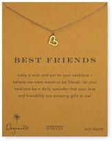 """Dogeared Best Friends Loving Heart Pendant Necklace, 18"""""""