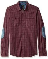Buffalo David Bitton Men's Sagaw Long Sleeve Full Button Down Shirt
