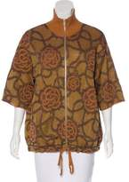 Dries Van Noten Intarsia Zip-Up Jacket