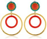 Katerina Psoma Nuwa Gold & Glass Circle Earrings