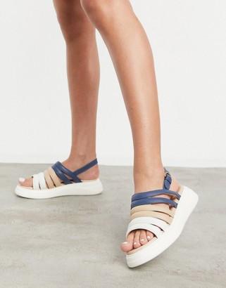 Fiorelli silvia suede slingback chunky sandals in multi