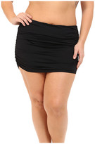 Lauren Ralph Lauren Plus Size Beach Club Solids Ultra High Waist Skirted Hipster Bottoms