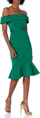 Badgley Mischka Women's Short Sleeve Scuba Dress