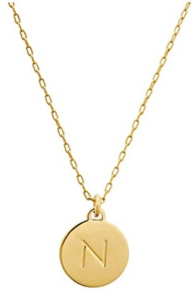 Kate Spade N Mini Pendant Necklace (Gold) Necklace