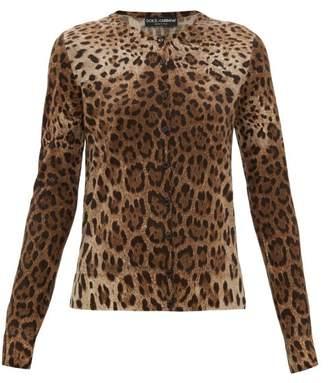Dolce & Gabbana Leopard-print Virgin-wool Cardigan - Womens - Leopard