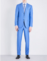 Canali Micro textured wool and mohair-blend suit