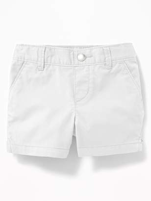 Old Navy Twill Pull-On Shorts for Toddler Girls