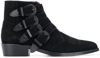 Toga Virilis Multiple Buckle Boots
