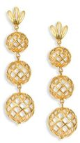 Lele Sadoughi Tiered Pineapple Clip-On Drop Earrings