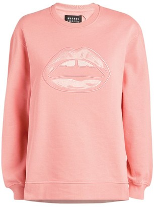 Markus Lupfer Josie Embroidered Lip Sweatshirt