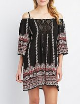 Charlotte Russe Boho Cold Shoulder Shift Dress