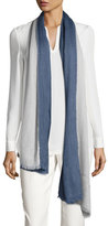 Loro Piana Aylit® Pure Cashmere & Silk Gauze Stole, Denim Blue