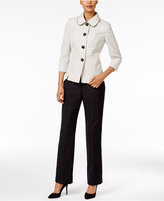 Le Suit Club-Collar Tweed Pantsuit