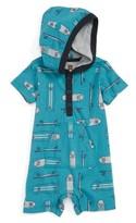 Tea Collection Infant Boy's On Decks Hooded Romper