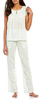 Cabernet Dotted Flutter-Sleeve Pajamas