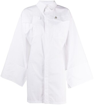ATTICO Cotton Mini Shirt Dress