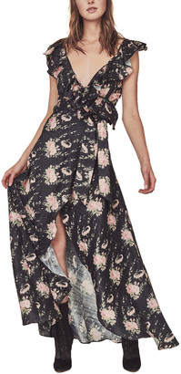 LoveShackFancy Cosmo Silk-Blend Maxi Dress