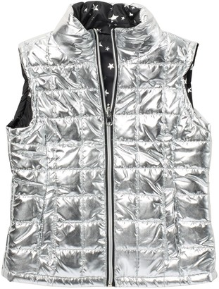 Urban Republic Metallic Star Reversible Quilted Vest (Big Girls)