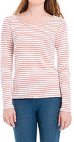 Max Studio by Leon Max Striped Linen Long Sleeved Tee