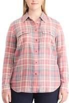 Chaps Plus Size Plaid Twill Shirt