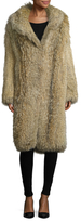 Pologeorgis Fur Shawl Collar Coat