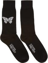 Alexander McQueen Black Butterfly Socks