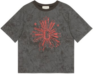 Gucci Children's G stars print T-shirt