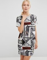 French Connection Empire Grid Dress