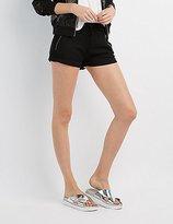 Charlotte Russe Zip-Front Drawstring Shorts