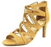 Fergalicious Heartthrob Women Round Toe Synthetic Tan Heels.