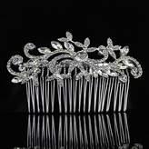 Sunshinesmile Leaf Crystal Bridal Hair Combs Hairpin Tiara Wedding Hair Accessories Hair Jewelry