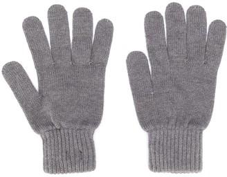 Calvin Klein Logo-Patch Knit Gloves