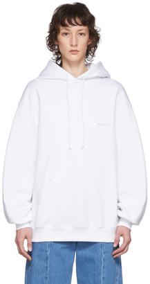 Juun.J White Logo Hoodie