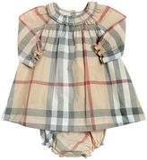 Burberry Check Cotton Poplin Dress & Diaper Cover