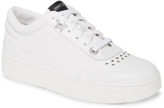 Jimmy Choo Hawaii Leather Lace-Up Sneaker