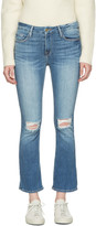 Frame Blue Le Crop Mini Boot Jeans