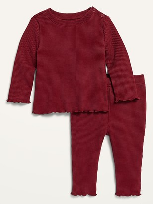 Old Navy Cozy Thermal Top and Pants Set for Baby