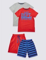 Marks and Spencer 2 Pack Pure Cotton Short Pyjamas (3-16 Years)