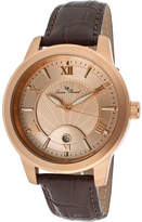 Lucien Piccard Men's 10046-RG-09 - Brown Genuine Leather/Rose Gold Analog Watches