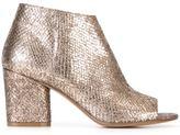 Maison Margiela open toe ankle boots - women - Leather/rubber - 40